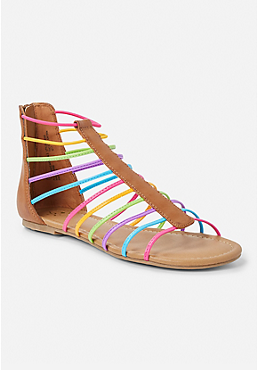 Rainbow Gladiator Sandal Girls Shoes Tween Tween Shoes Girls Shoes Kids