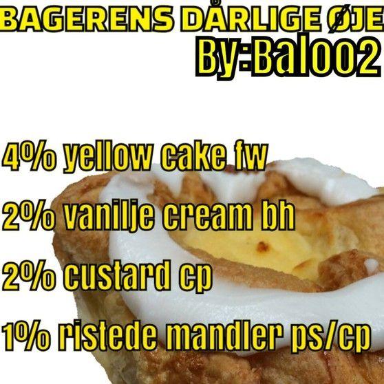 <b>Bagerens dårlige øje</b><br /><b>Baloo2</b> har tilladt at vi må bruge hans opskrifter.