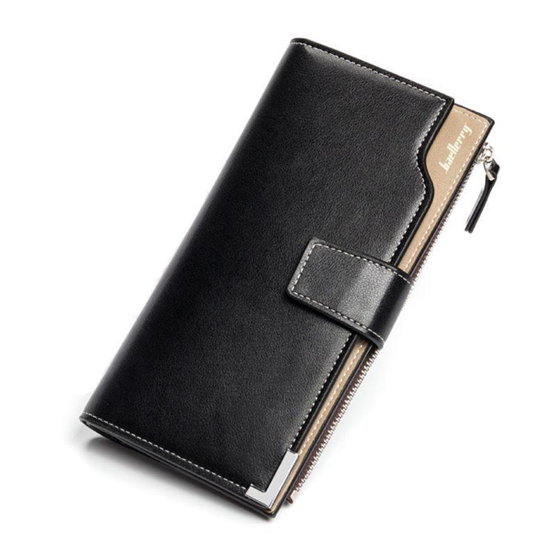 213f5f41c0b7 Luxury High Quality PU Leather Men's Vintage Long Pattern Handbag ...