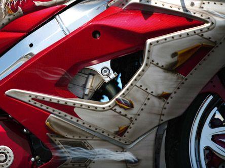 Street Style Customs Air Brush Painting Sport Bikes Motorcycle Painting