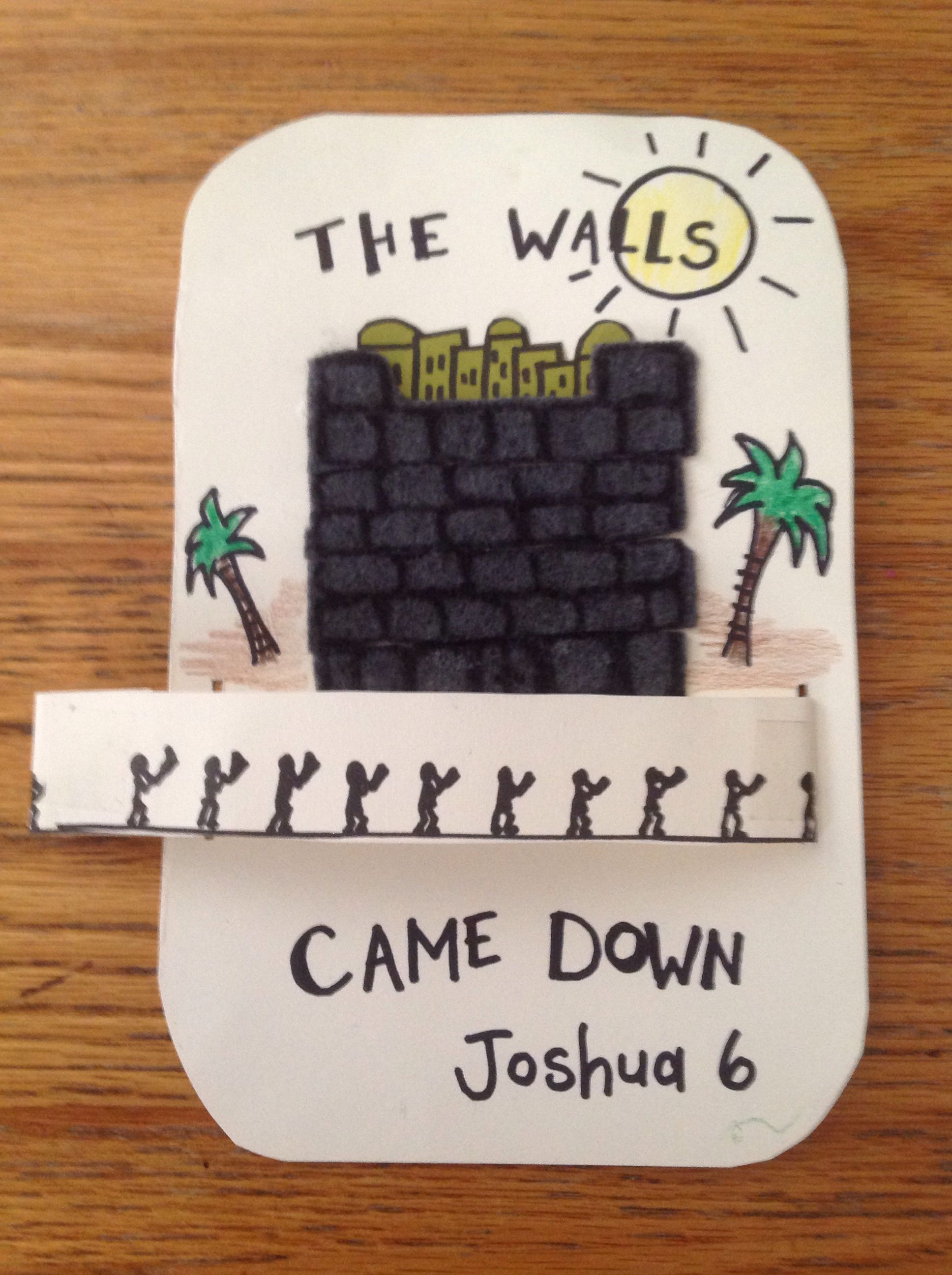 joshua walls of jericho bible craft marchers spin around bible