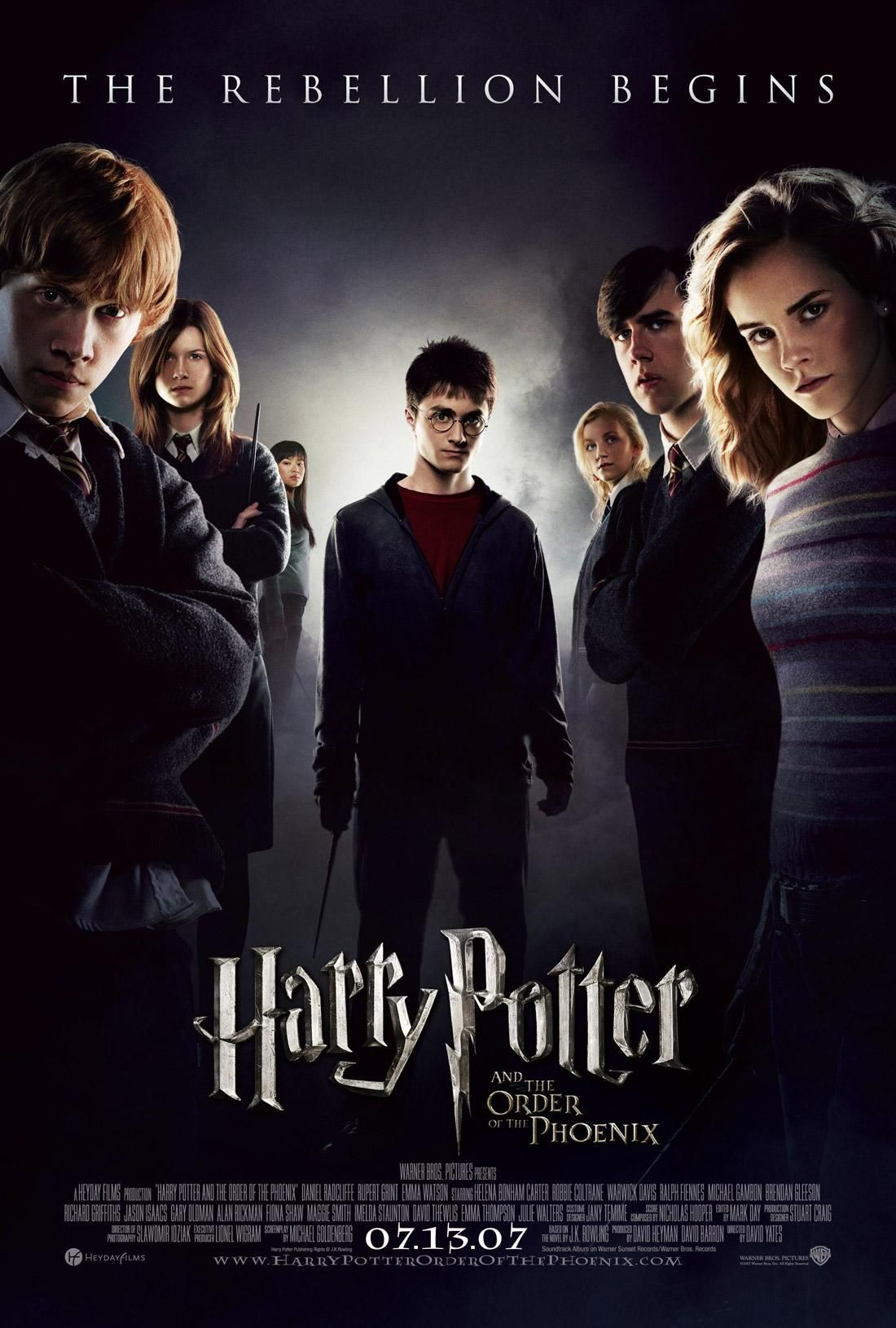 Harry Potter And The Order Of The Phoenix 2007 Harry Potter Order Harry Potter Movie Posters Harry Potter 5