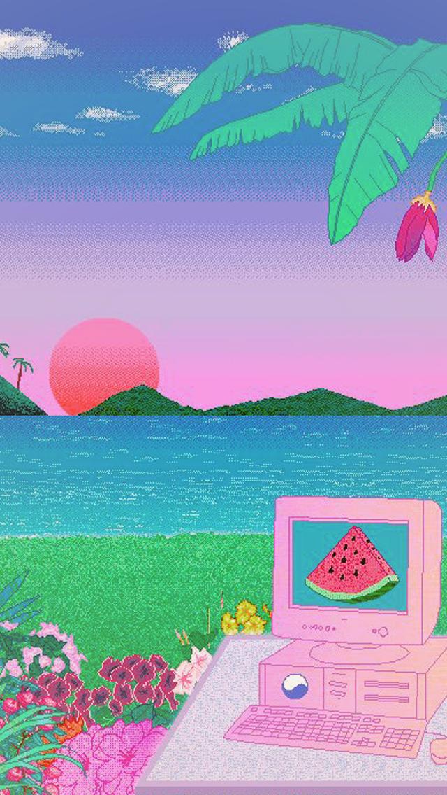 Pixel Art Wallpaper Tumblr Vaporwave Wallpaper Pixel Art