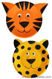 Paper Plate Tiger and Leopard craft  sc 1 st  Pinterest & Paper Plate Tiger and Leopard craft | paper plate animals ...