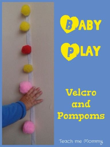 Baby Play: velcro and pompoms. A great diy activity idea.