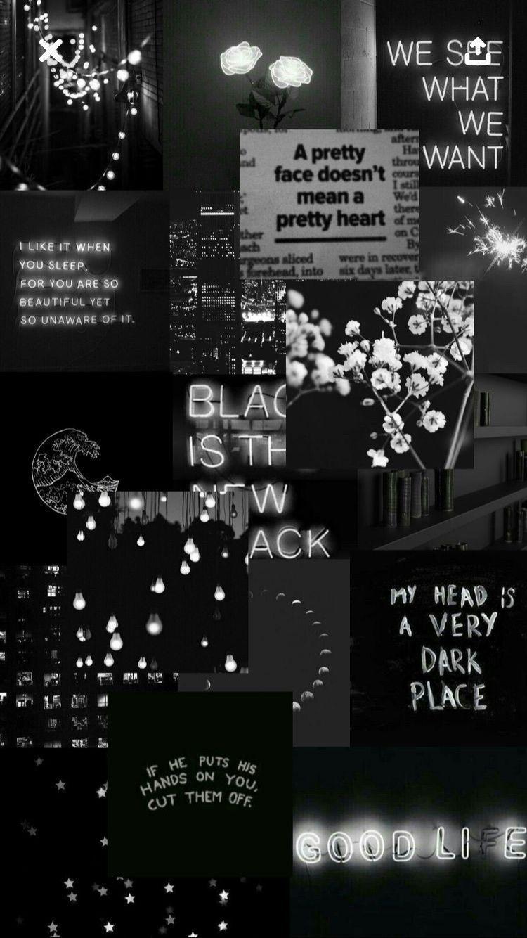 Aesthetic Black Lockscreen Wallpaper Tumblr Iphone Aesthetic Black Iphone Lockscreen Tumblr Wallpaper Galaxy Wallpaper Dinding Gambar Fotografi Malam