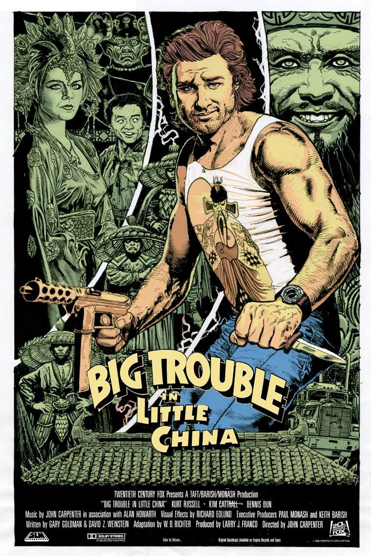 Big Trouble In Little China By Chris Weston Mondo Posters Alternative Movie Posters Best Movie Posters