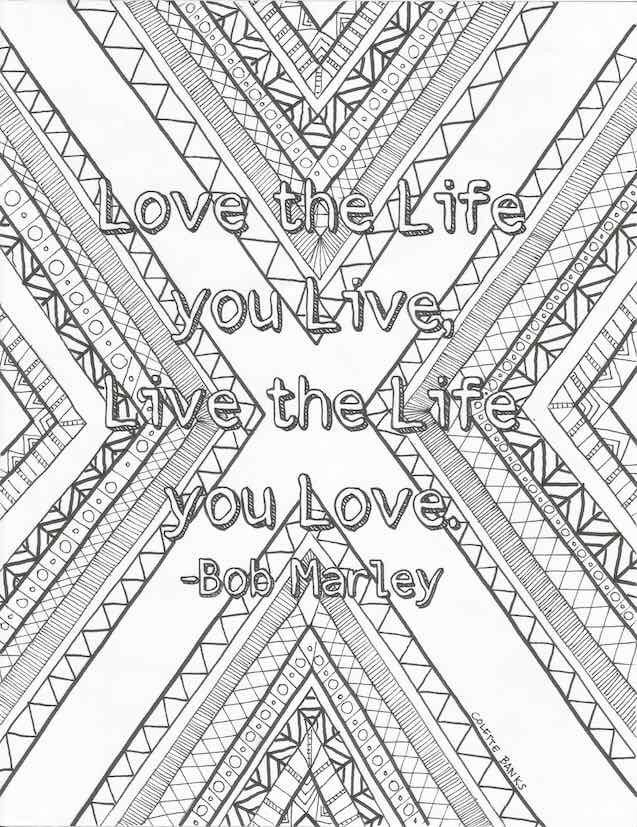 Adult Coloring Page Quote Download I Need This In My Life Love