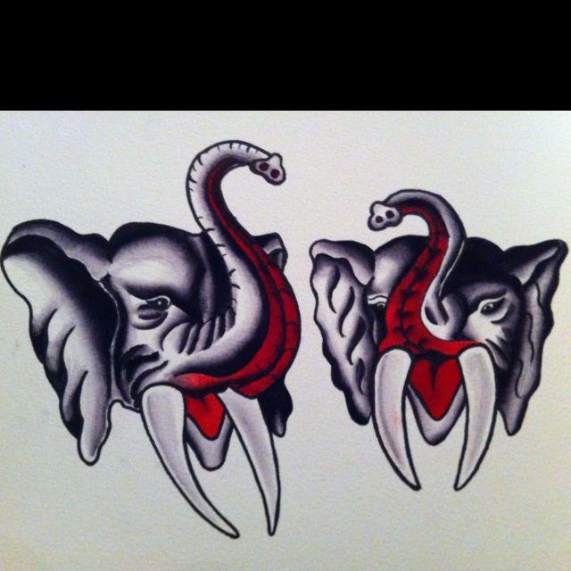 Elephants. By me.