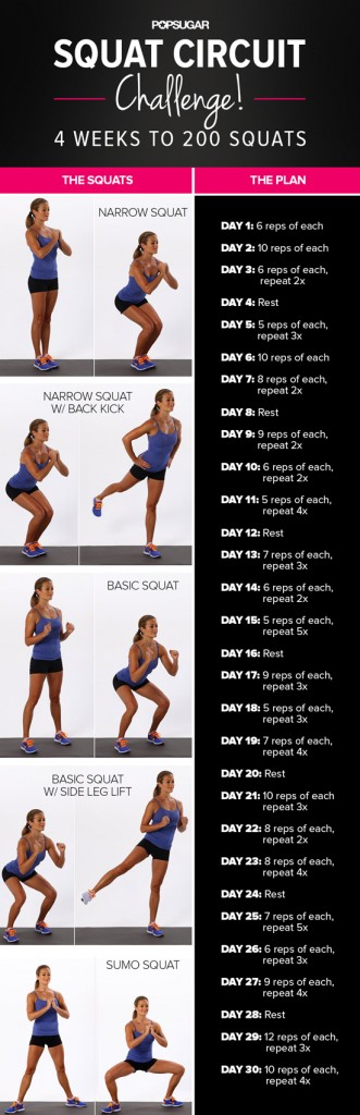30 Day Squats Challenge | Flights of Delight