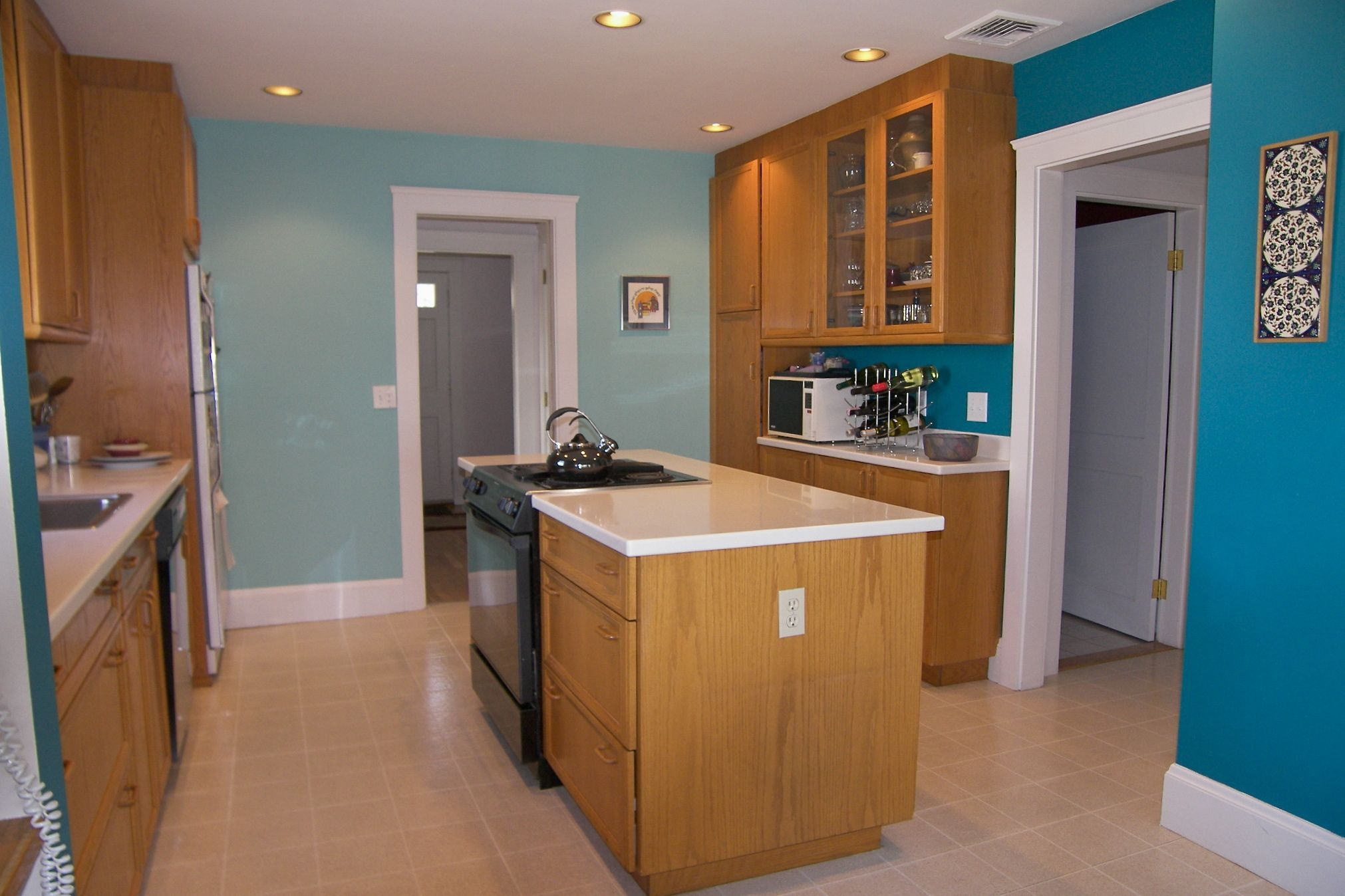 Colour For Kitchens Kitchen Colour Kitchen With A Cheerful Blue Color Scheme Kitchen