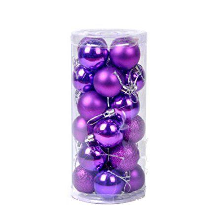 EXIU Christmas Balls Ornaments Shatterproof Pendants for Xmas Party Decoration, 24pcs