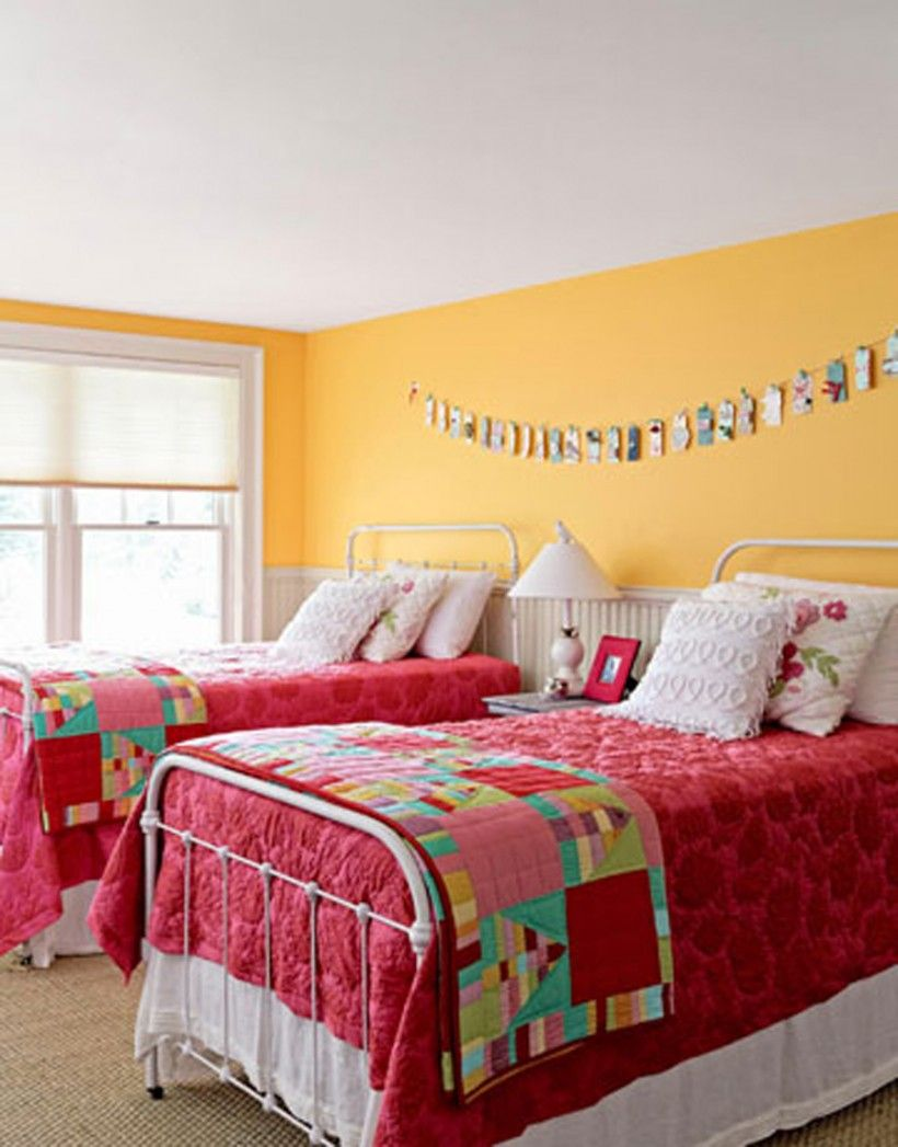 Kids Bedroom : Sunshine Guest Room Twin Beds White Iron Beds Garnet ...