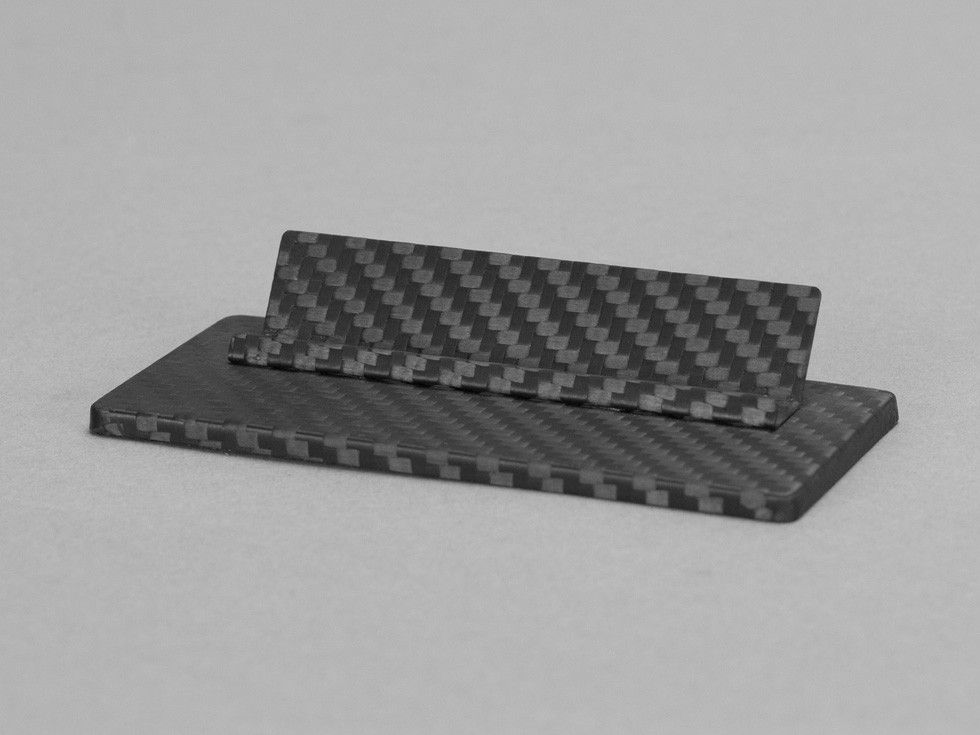 Carbon Touch Carbon Fiber Business Card Desk Stand | Carbon fiber ...