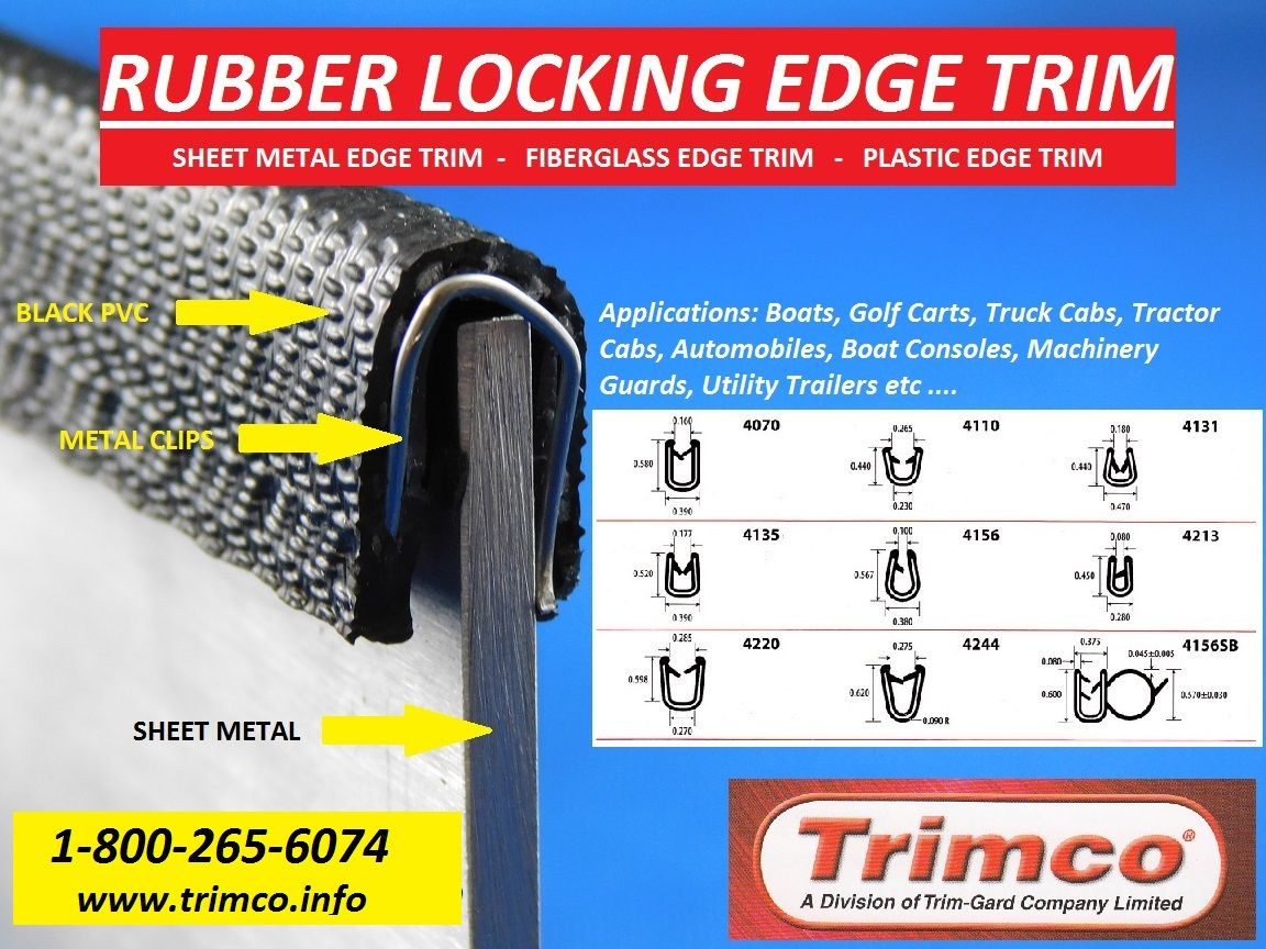 Rubber Locking Edge Trim Pvc Trim Rubber Edges