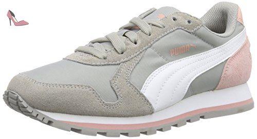 Puma ST Runner NL Jr, Unisex-Kinder Sneakers, Pink (Meadow Mauve-White-Marina Blue 07), 38 EU (5 Kinder UK)