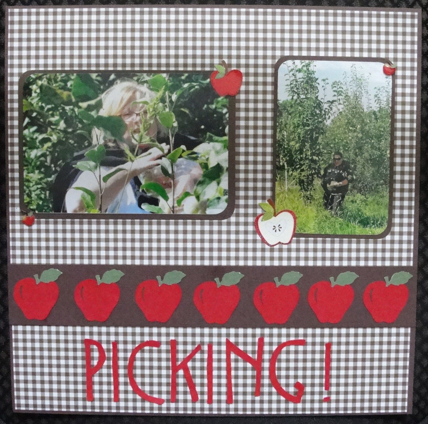 PICKING THE PERFECT PUMPKIN Non-Photo-Mat EZ Layout 2415 Premade Scrapbook Pages