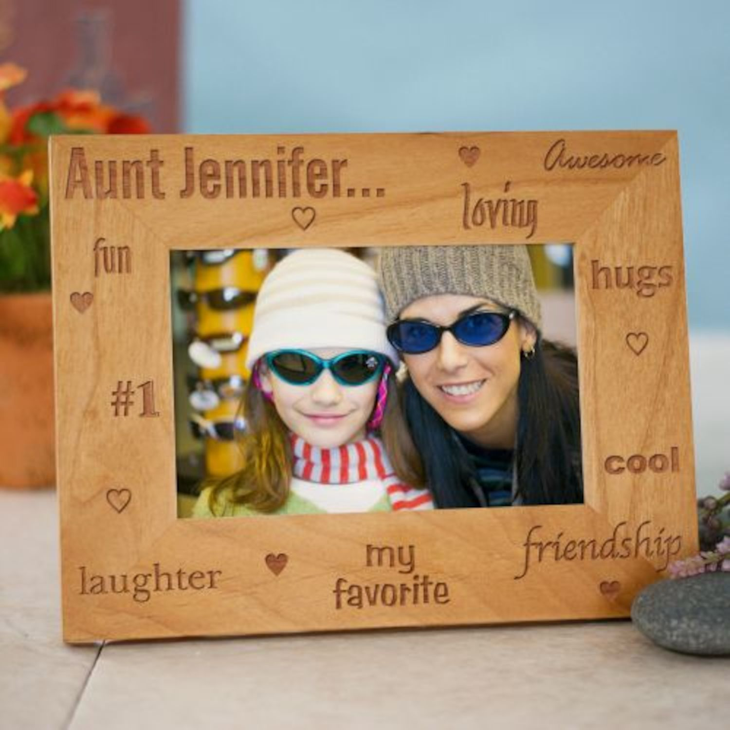 Personalized My Favorite Aunt Wood Picture Frame | Products ...