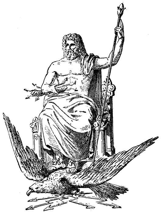 Epingle Sur Mythe Me Zeus