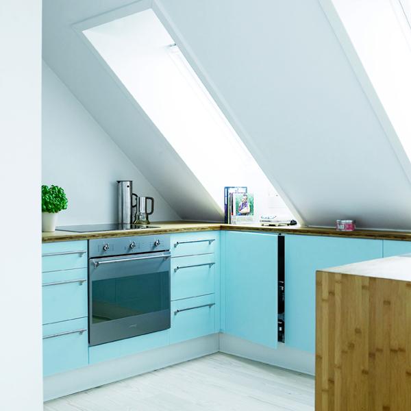 k che unter dachschr ge k che pinterest more. Black Bedroom Furniture Sets. Home Design Ideas
