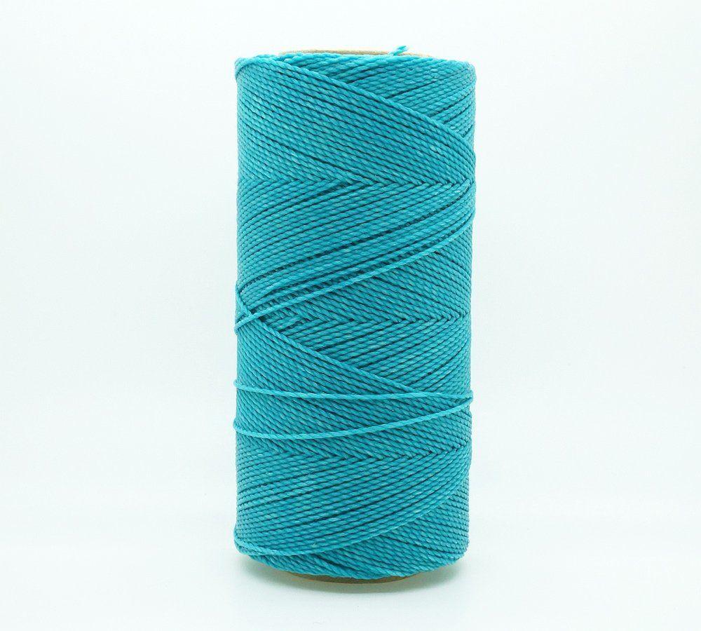 Polyester Cord Thread 1mm Aqua blue bead stringing bracelet necklace making