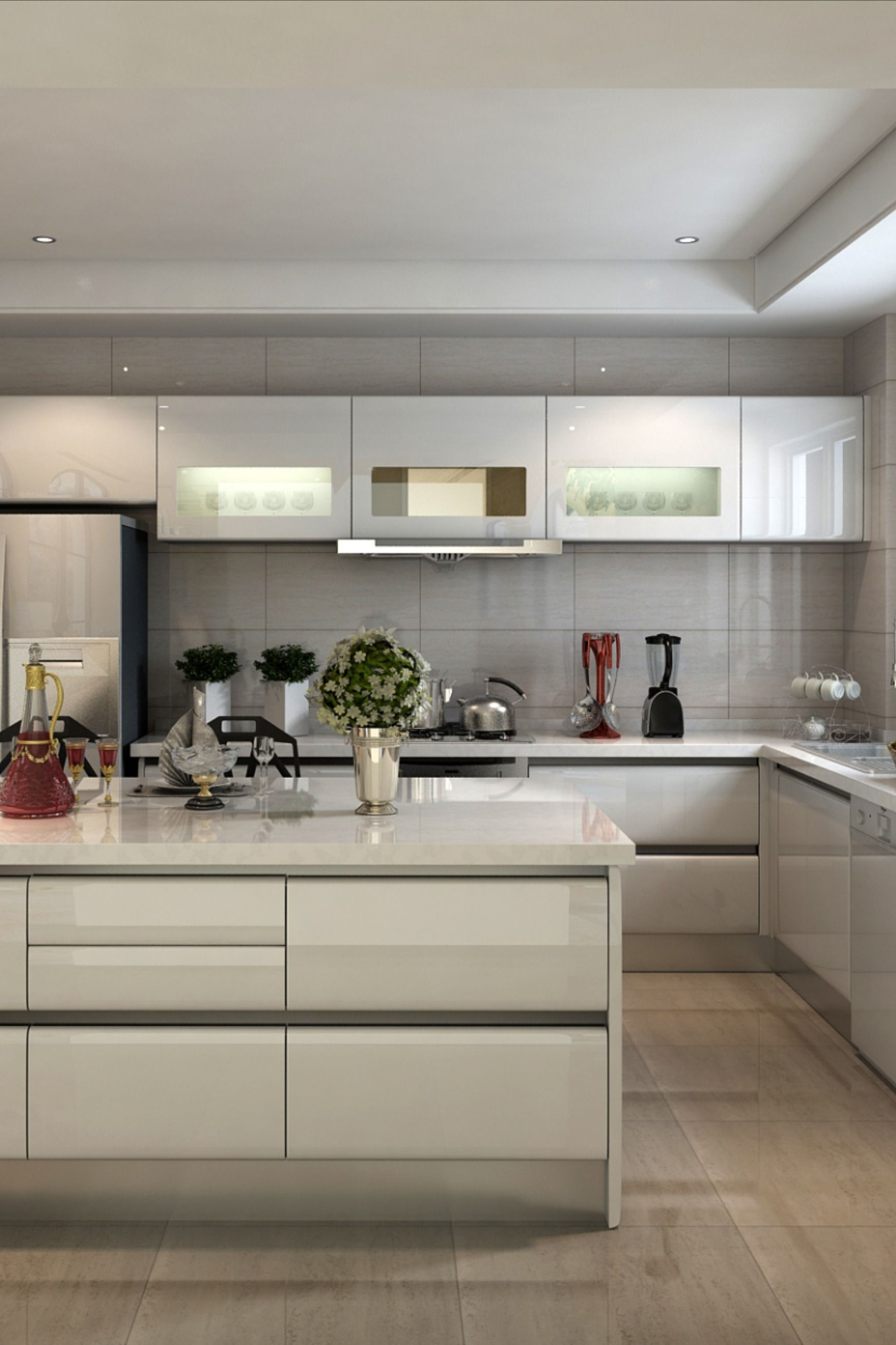 Lacquer Kitchen Cabinet In 2020 Contemporary Kitchen Kitchen Cabinet