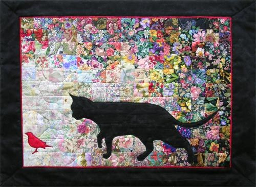 Another fantastic #cat #quilt. My grandfather would have loved ... : bird quilt - Adamdwight.com
