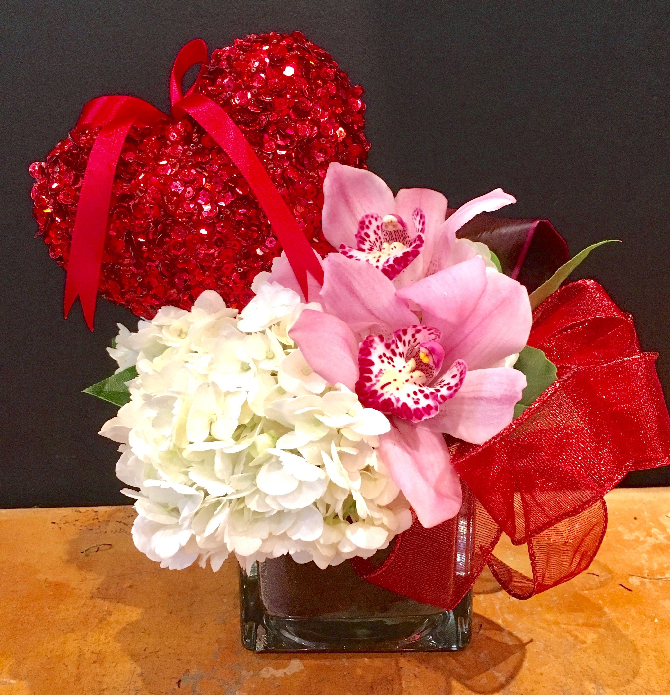 You Make My Heart Sparkle! Hydrangea and Cymbidium Blooms