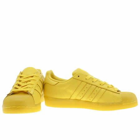 womens adidas yellow adicolor superstar so icy trainers