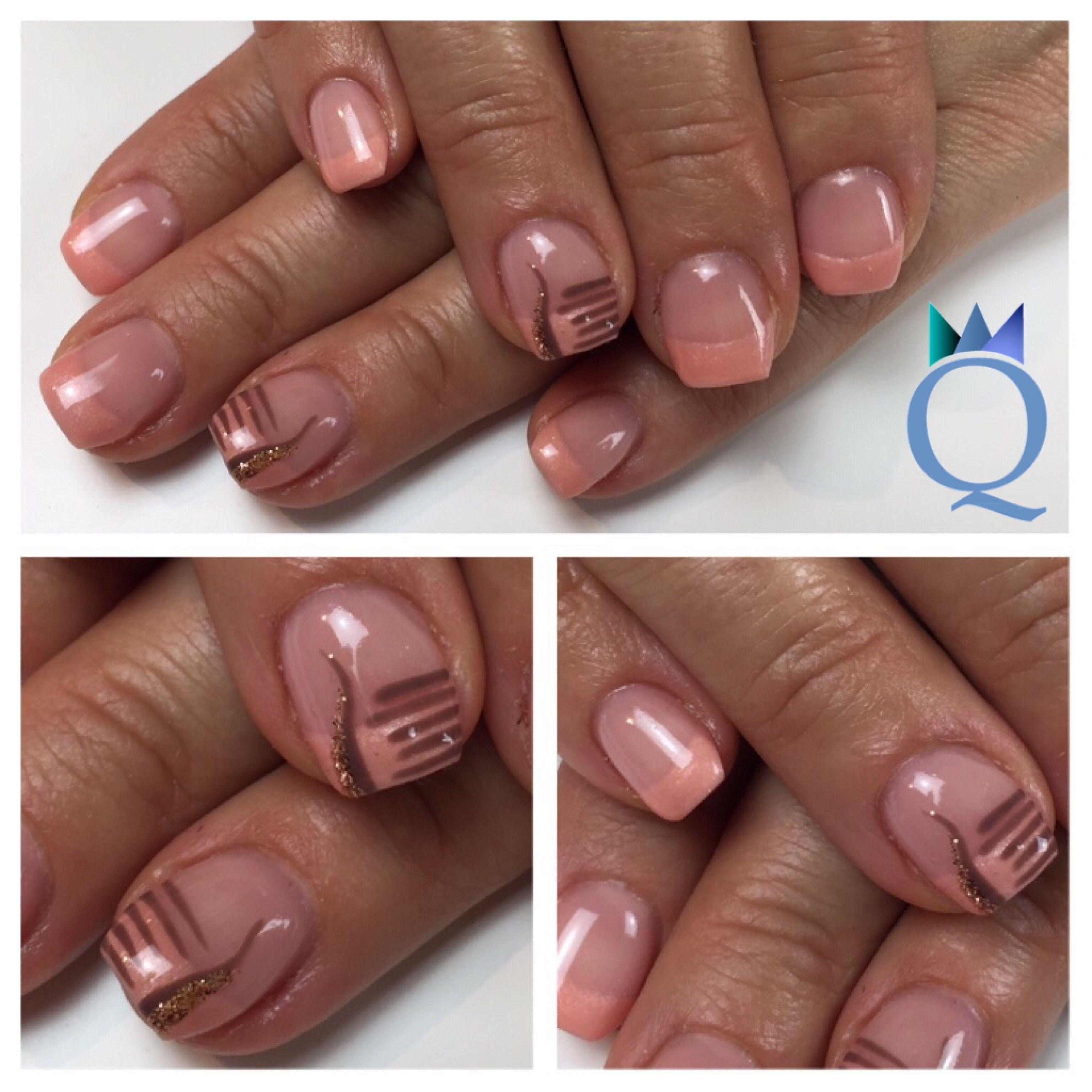 short #coffinnails #ballerinashape #gelnails #nails #peach ...