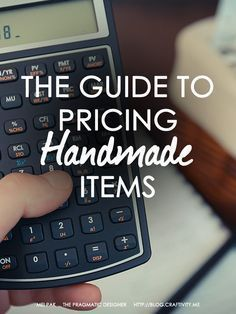 Pricing Handmade Items Guide #craftstosell