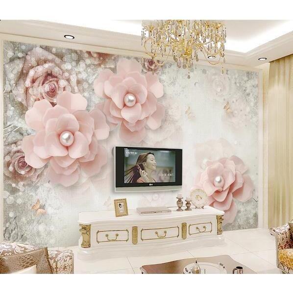 3D Pink Floral Wall Mural Wallpaper 168