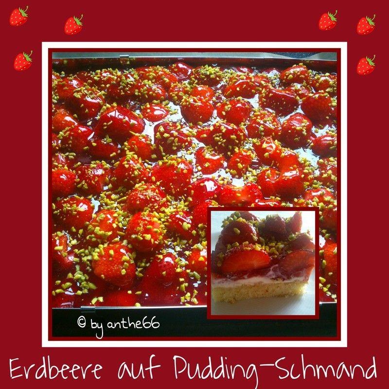 'Erdbeeren auf Pudding-Schmand'