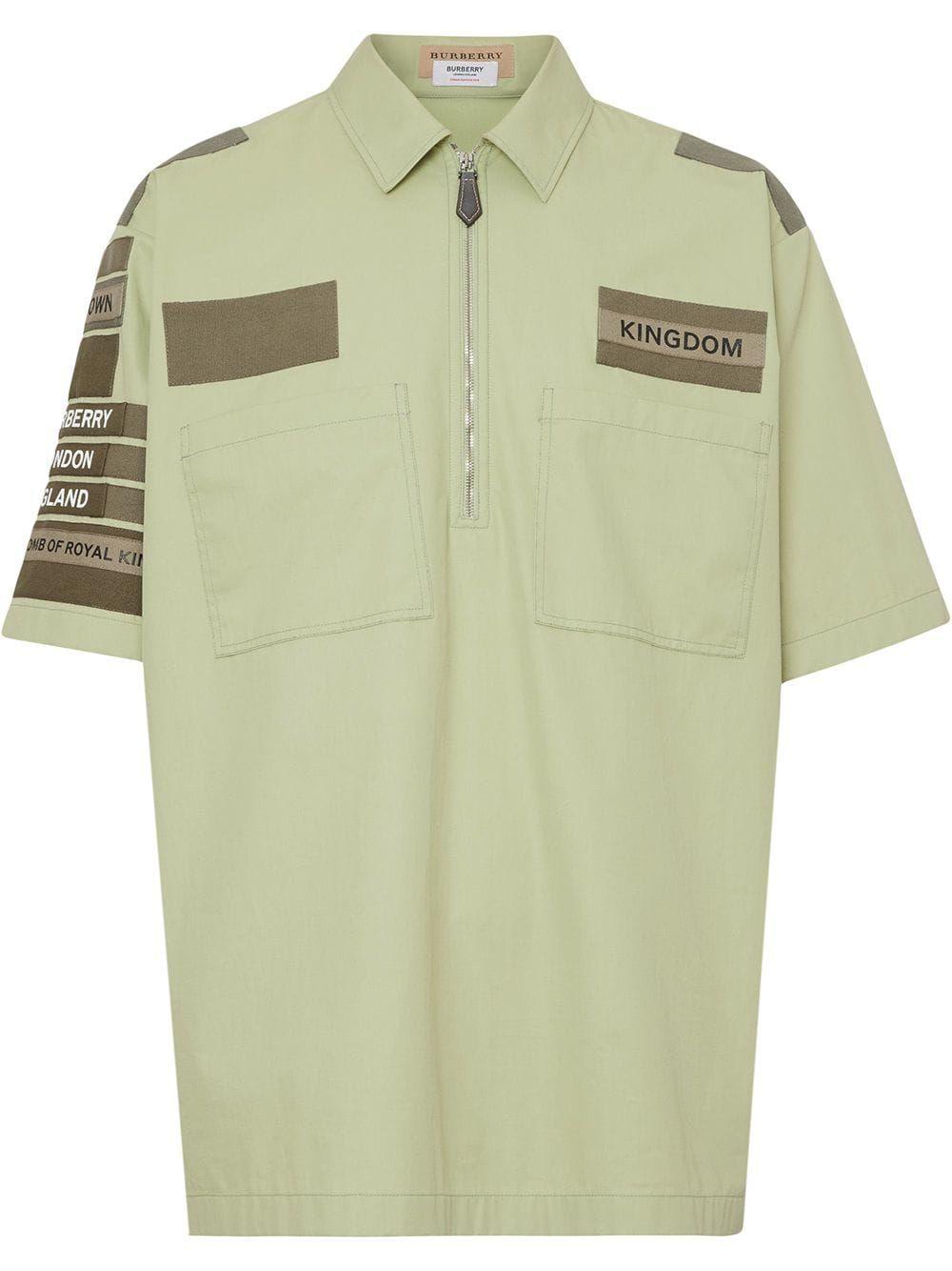 99981669d5a Burberry рубашка с короткими рукавами в стиле милитари - Купить в Интернет  Магазине в Москве