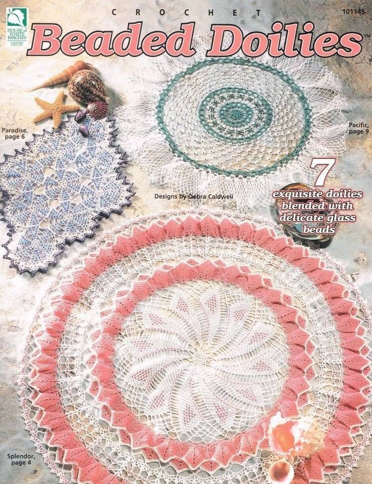 Beaded Doilies Crochet Pattern Book 7 Doily Patterns Instructions