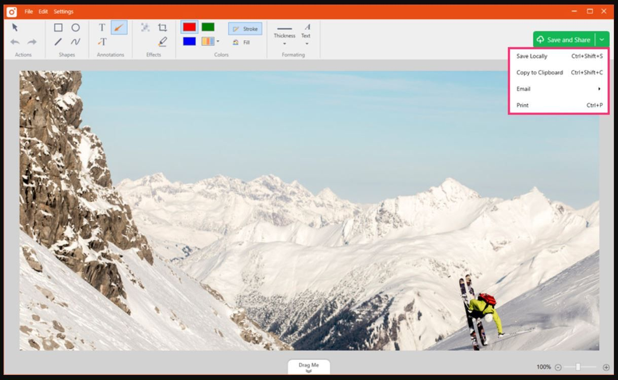 Example of work in TinyTake Screenshot_Tools