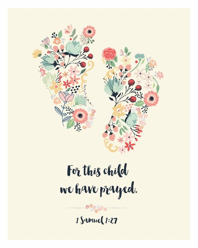 Little Baby Jesus Quote: For This Child We Have Prayed