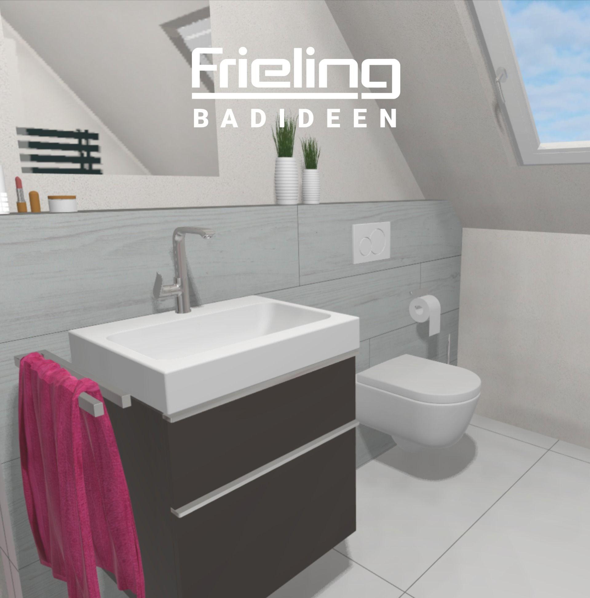 Das Bad Mit Dachschrage Ansicht Waschbecken Und Wand Wc Tageslicht Im Badezimmer Badidee In 2020 Bad Mit Dachschrage Wand Wc Waschbecken