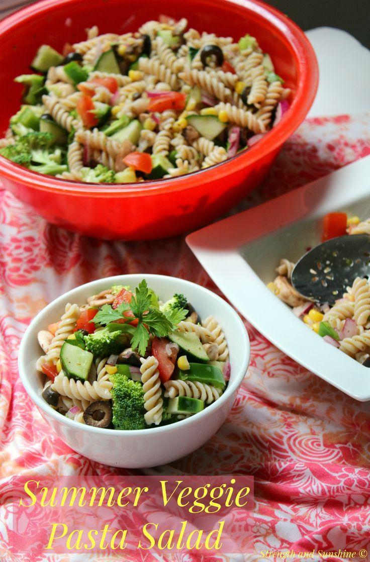 Summer Veggie Pasta Salad Recipe Veggie pasta, Pasta
