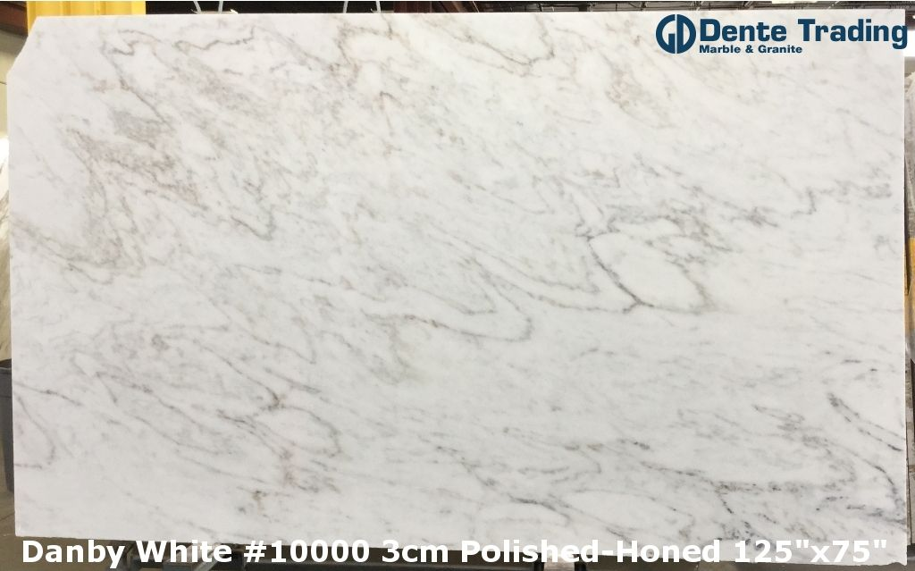 Danby White 10000 3cm Polished Honed 125 75 White Marble Marble Granite White