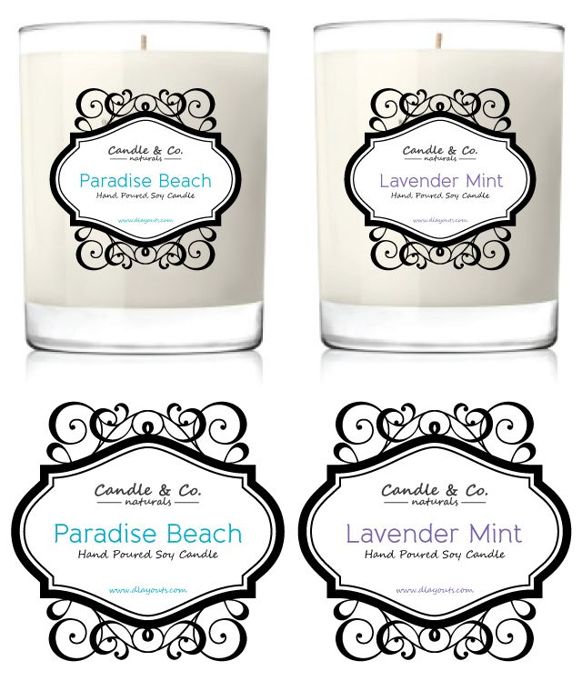 Handmade Soy Candles Label Template    wwwdlayouts - labeltemplate