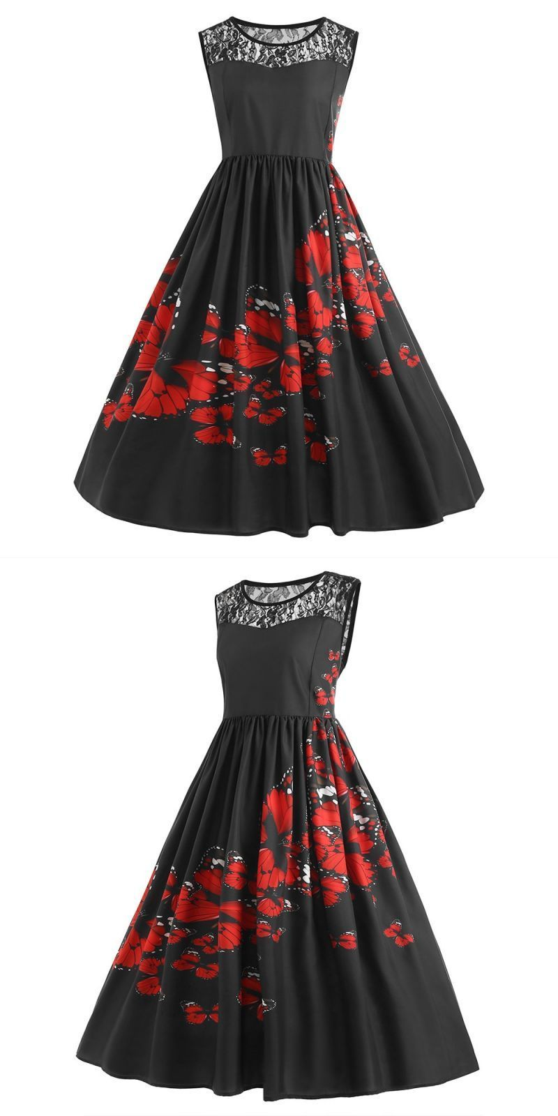 5xl big size dress 2018 summer dresses women plus size lace patchwork  butterfly print party evening prom swing dress dropshippin  cotton  casual   loose ... 7b321797c622