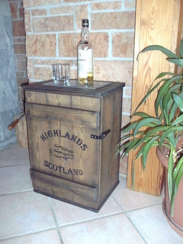 Shabby frachtkiste mini bar vintage couchtisch whiskey for Bar wohnzimmer