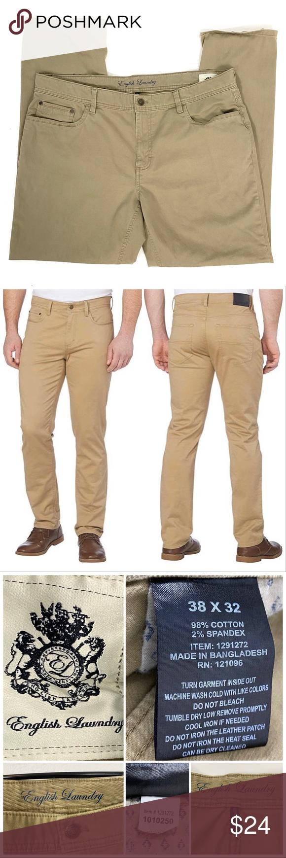 English Laundry 38x32 5 Pocket Pants Sand Dune Pocket Pants