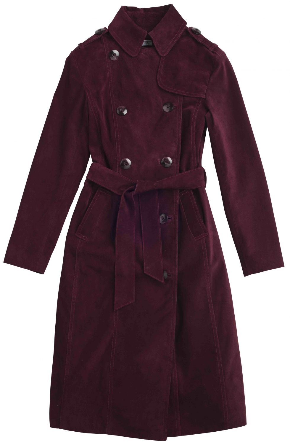 1f632670f25a7 Kylie Suede Trench Coat