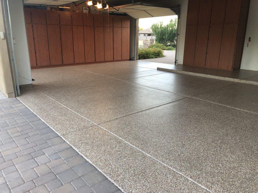 One Day Stonecoat Garage Floors Stonecoat 1 Day Is A Durable Rapid Curing High Build Decorative Color Chip Flo Garage Floor Coatings Quartz Flooring Flooring