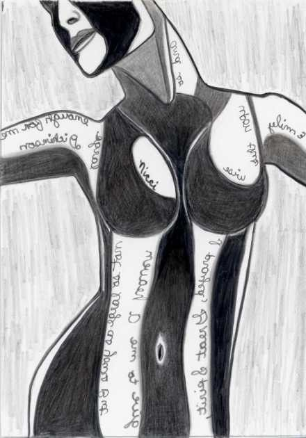Heaven  pencil drawing  female nude  drawing with poet quote by penciledbynicole #art #aceo #drawing #emilydickinson #quote