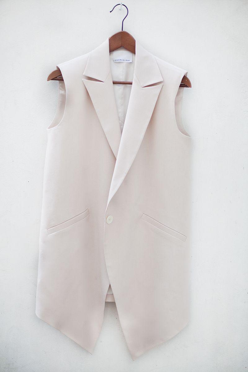 The Charlie May SS13 sleeveless blazer