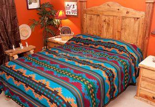 Western Ranch Blanket Bedspread Yavapai Pattern King Bed Spreads Southwest Decor Southwest Bedspreads