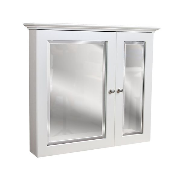2 Door White Medicine Cabinet   Overstock Shopping   Big Discounts On Bath  Cabinets U0026 Storage